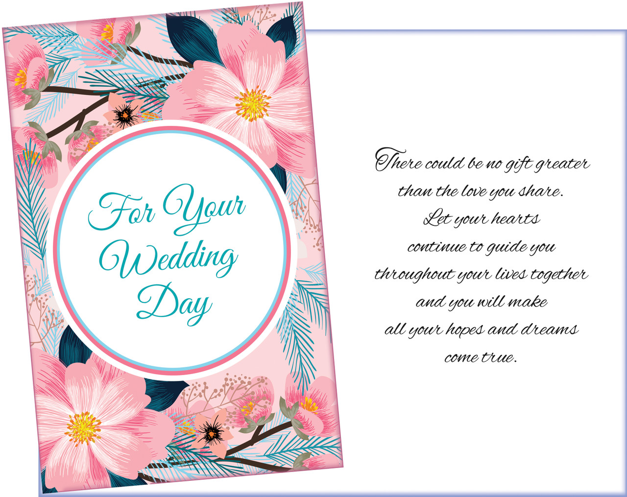 95931 six wedding greeting cards with six envelopes