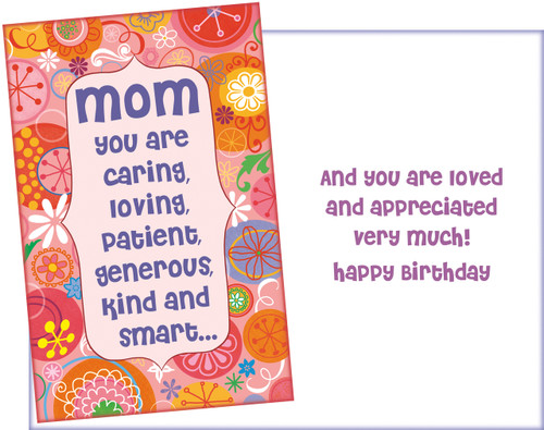 95136 Six Birthday Mom Cards With Envelopes
