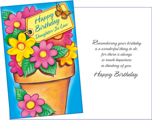 87605 Six Daughter In Law Birthday Greeting Cards With Envelopes