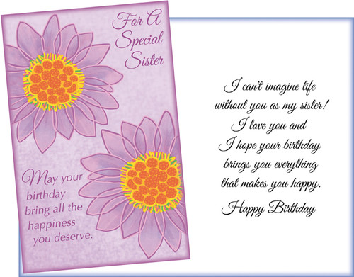 70042 Six Sister Birthday Greeting Cards With Envelopes