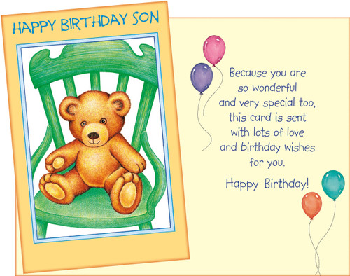 89773 Six Birthday Son Greeting Cards Envelopes