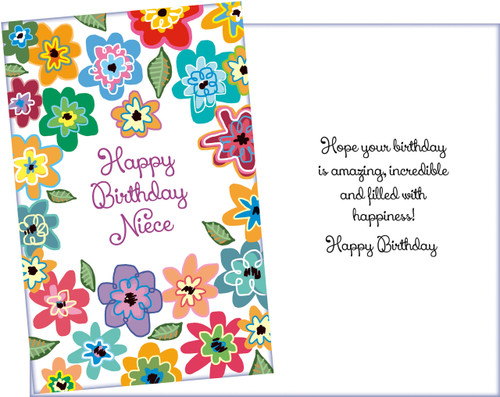 89775 Six Niece Birthday Greeting Cards With Envelopes