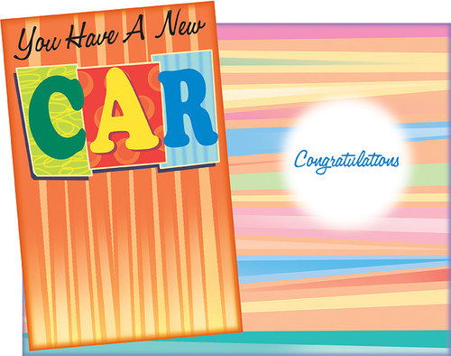 89757 Six New Car Greeting Cards With Envelopes