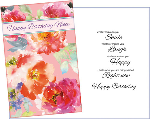 70161 Six Niece Birthday Greeting Cards With Envelopes