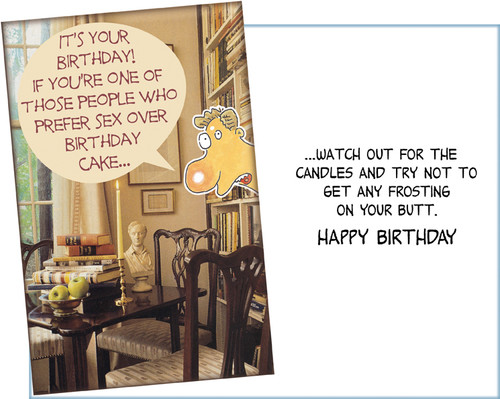 094153 Six Funny Birthday Greeting Cards With Envelopes