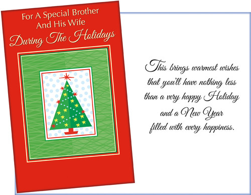 61157 six christmas brother and his wife cards and envelopes