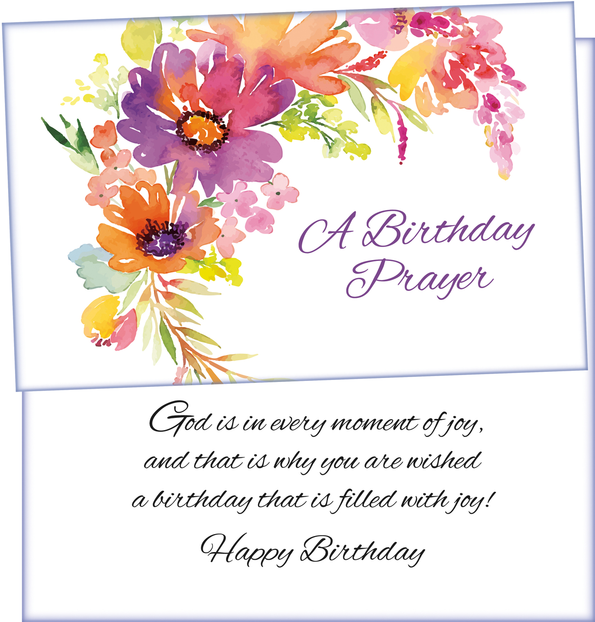Six Religious Birthday Greeting Cards With Six Envelopes