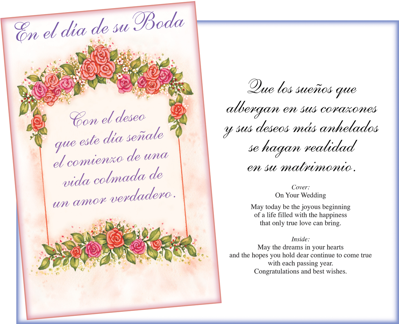 Wedding Greeting Cards.01017 Six Spanish Wedding Greeting Cards With Six Envelopes