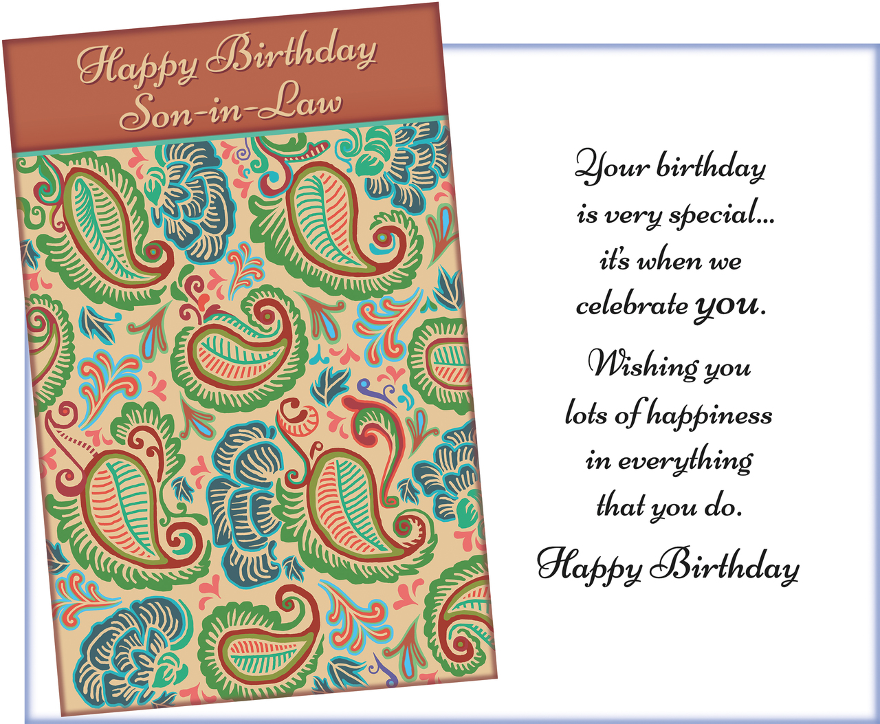 95642 Six Birthday Son In Law Greeting Cards Envelopes