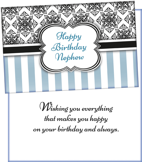 70279 Wholesale Birthday Nephew Greeting Card
