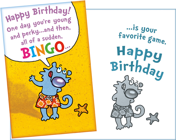 094141 Six Funny Birthday Greeting Cards With Envelopes