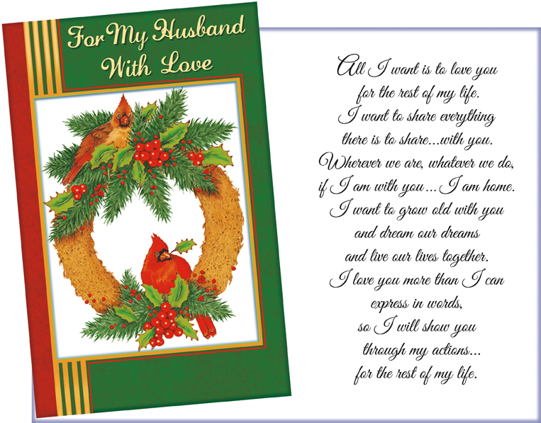 Husband Christmas Cards.61415 Six Christmas Husband Greeting Cards And Envelopes