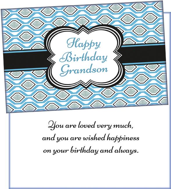 87026 Birthday Grandson Wholesale Greeting Card