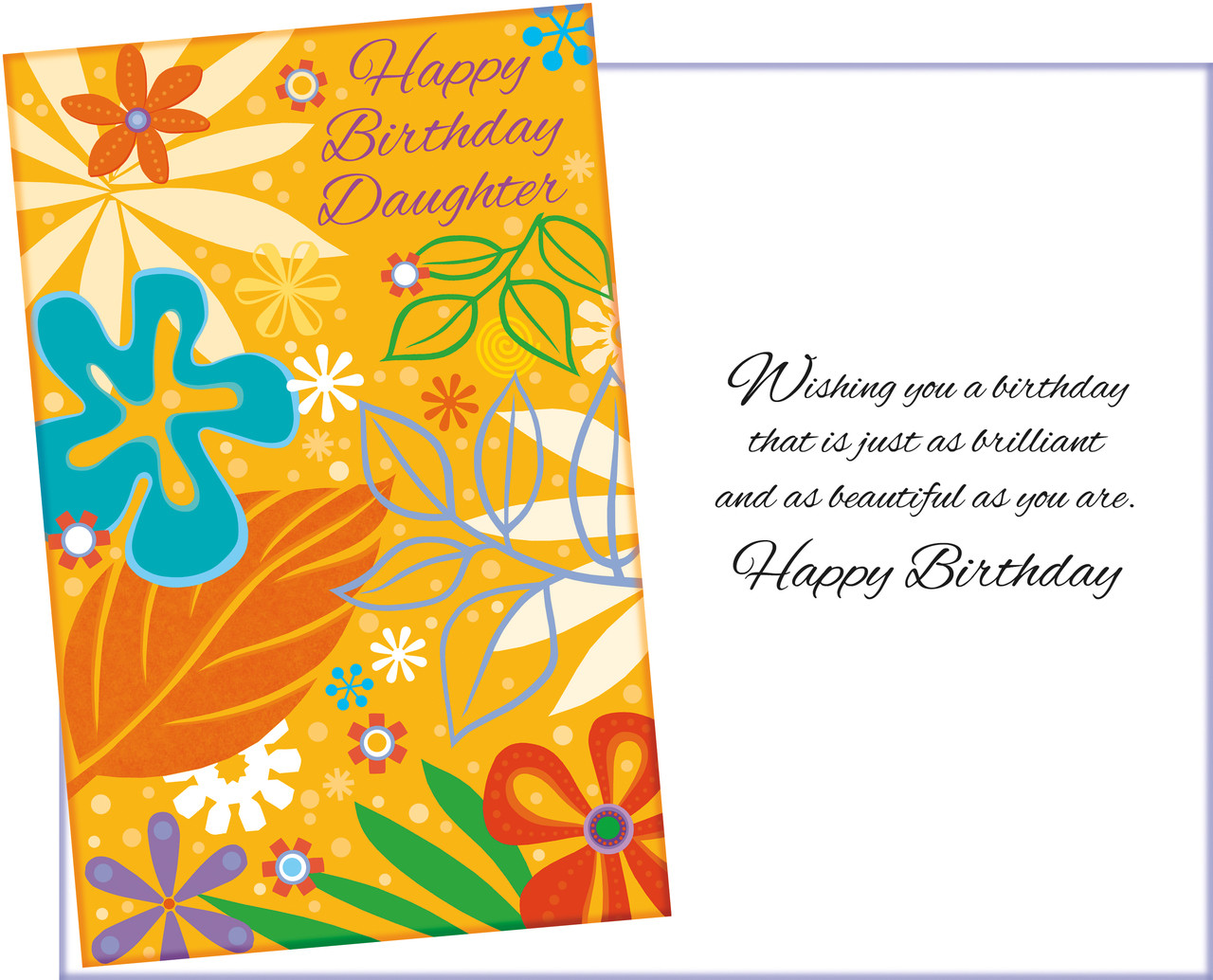 95200 Six Daughter Birthday Greeting Cards With Envelopes