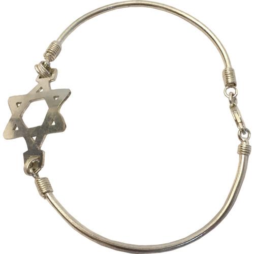 Ethiopian Star of David Silver Bracelet