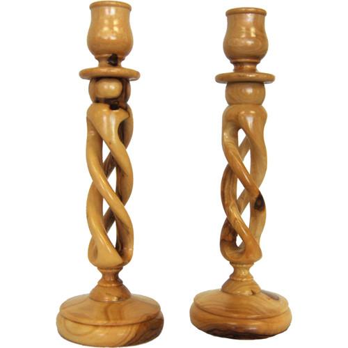 Olive Wood Candlesticks