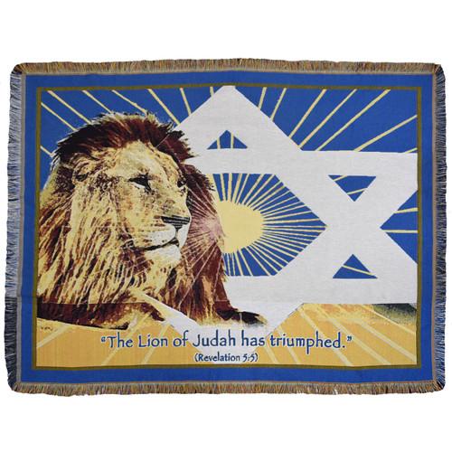 Lion of Judah Afghan Throw
