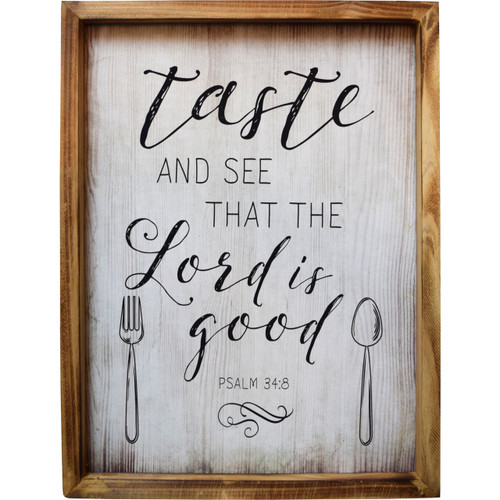 Psalm 34:8 Wall Plaque
