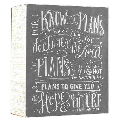 Jeremiah 29:11 Chalk Sign (2094)
