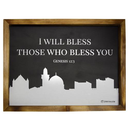 Genesis 12:3 Plaque (2105)