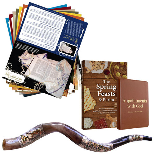 Tent Cards, Spring Feasts, Appointments with God and Large Silver Shofar (2149)