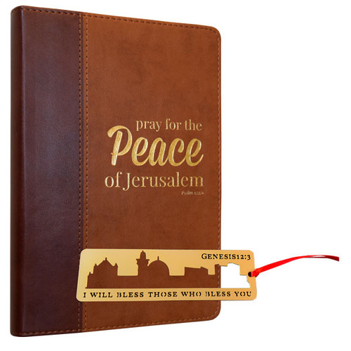 Genesis Metal Bookmark and Pray for the Peace of Jerusalem Journal (2246)