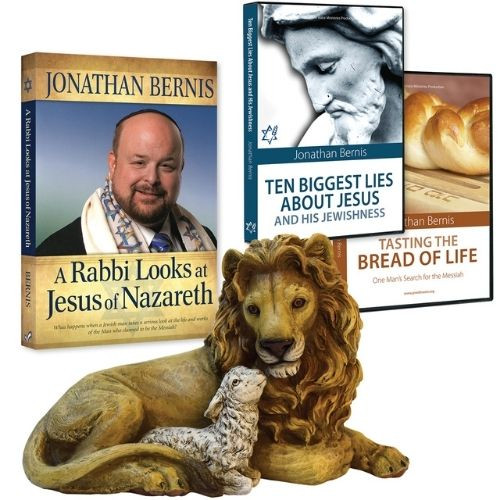A Rabbi Looks, 10 Biggest Lies, Tasting the Bread CD, & Lion & Lamb Figurine (4260)