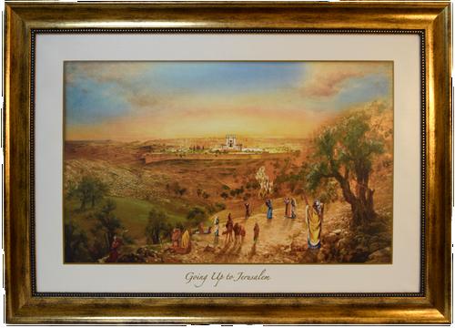 Going up to Jerusalem - Framed Art