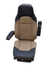 Knoedler Air Chief Memory Foam Tall Back Seat - Black/tan synthetic leather