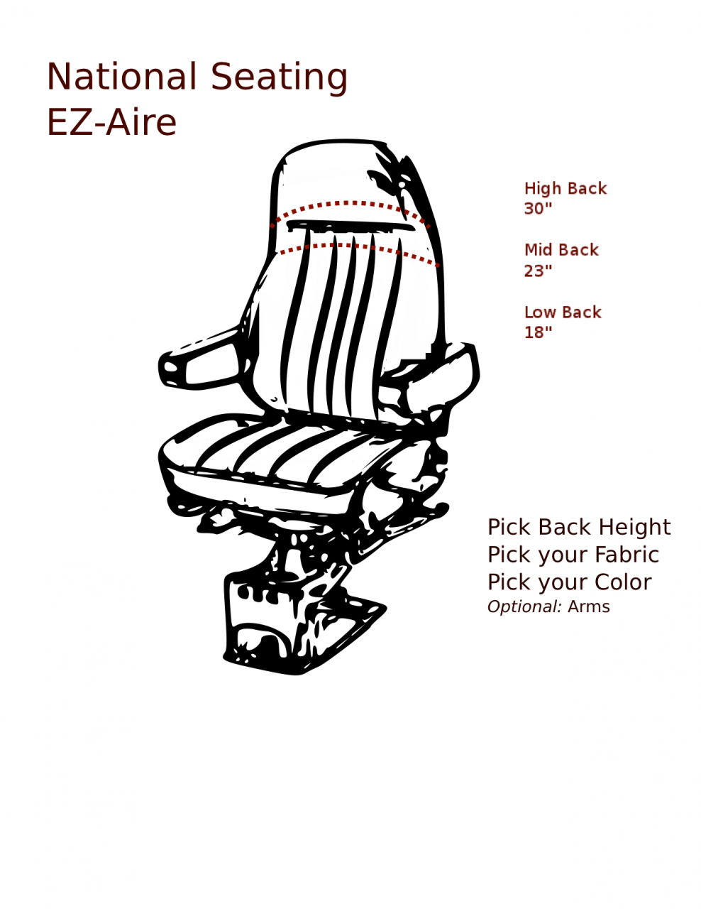 national ez aire series hi mid low back Freightliner Air Management Unit national ez aire series air source or hand pump