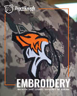 TigerTough offers 18 stock embroidery designs to add to your truck seat cover!