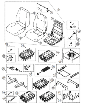 KAB 100 Series Backhoe - Item 1 on Parts Breakdown