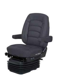 Bostrom Wide Ride with Serta mid back in black synthetic leather