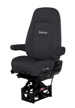 Pro Ride Hi Pro Air Suspension dual armrest in black cloth