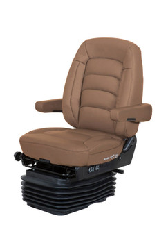 Bostrom Wide Ride with Serta Mid Back in Tan Leather
