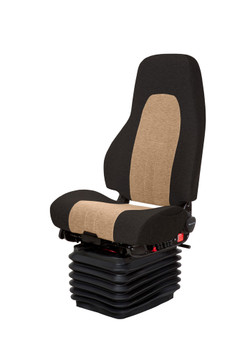 National Seating Admiral in Black and Sand Leather