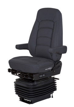 Bostrom Wide Ride + Serta HiPro with Venting in Black leather with Arms