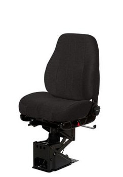 National Seating Mid Back Black VINYL no arms