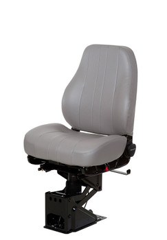 National Captain Seat Mid Back in Grey Vinyl