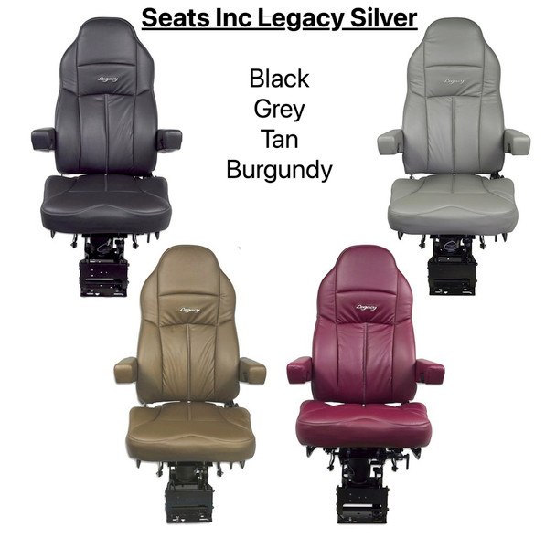 Seats Inc Legacy Silver in Leather