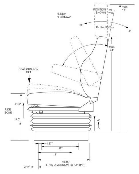Knoedler Fleethawk High Back (isolator, arms)