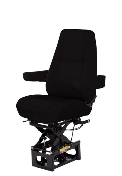 Bostrom Baja High Profile Mid Back in black with arms