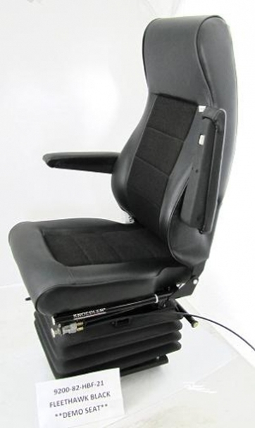 Knoedler Eagle Truck Seat Highback with Fleethawk covering (vinyl and cloth inserts), adjustable arm rests and bellow cover