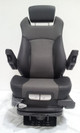 Prime Seating 600L front view in black and grey leather