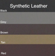 Standard Synthetic Leather colors