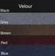 Standard Velour Colors