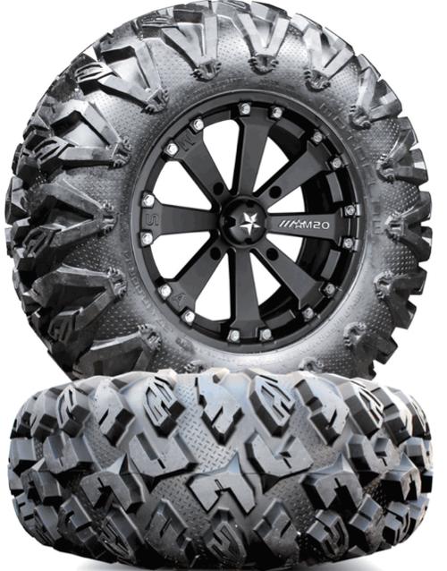 MSA M20 Kore Wheels w/ EFX MotoClaw Tires