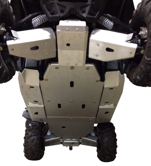 9-Piece Complete Aluminum Skid Plate Set CF Moto ZForce 1000