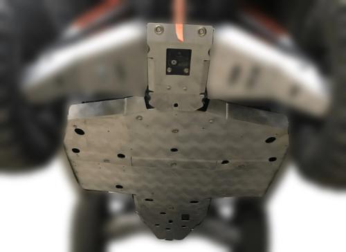 4 Piece Full Frame Polaris General XP 1000 Skid Plate Set