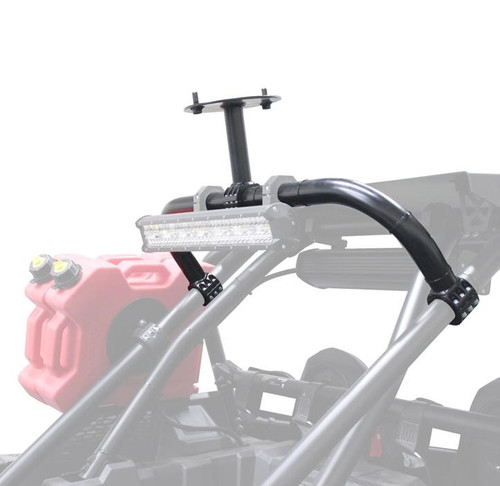 Polaris RZR XP Turbo S 4 Above Roof Dual Clamp Spare Tire Mount